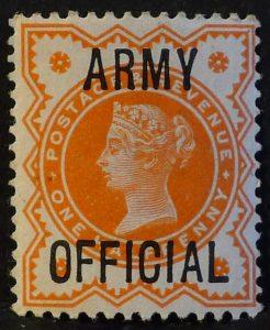 sgO41 ½d vermilion ARMY OFFICIAL - U/M