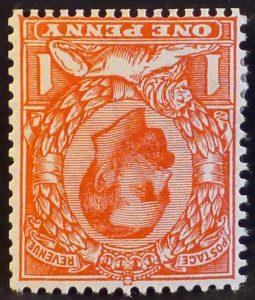 sg332wi 1d scarlet (Die B) - M/Mint