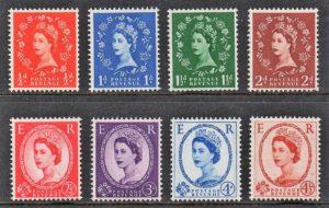 1958-61 'Graphite-lined issue' sg587-594 - U/M