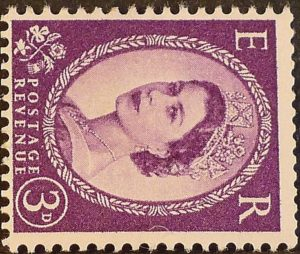 sg545b 3d deep lilac (St Edward`s Crown sideways) – U/M