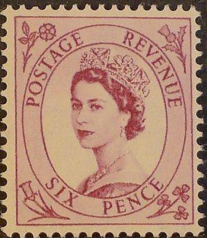 sg548 6d reddish purple (St Edward`s Crown) – U/M