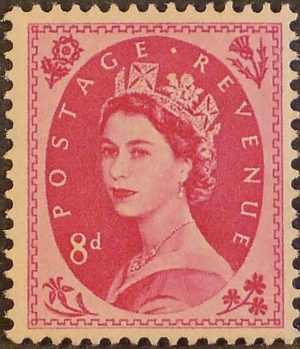 sg550 8d magenta (St Edward`s Crown) – U/M