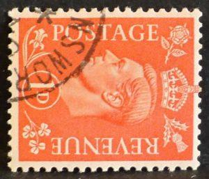 sg486a 1d pale scarlet (wmk sideways) - Fine used