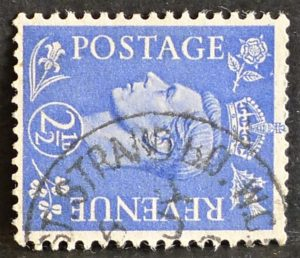 sg489a 2½d light ultramarine (wmk sideways) - Fine used