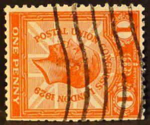 sg435a 1d scarlet (wmk sideways)