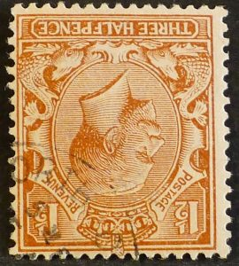 sg362wi 1½d red-brown (wmk inverted) - Fine used