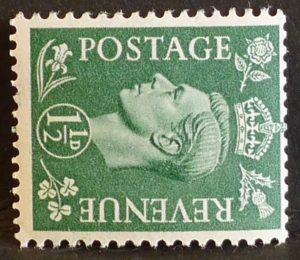 sg505a 1½d pale green (wmk sideways) – U/M