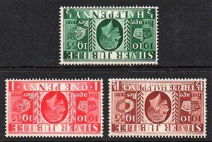 1935 Silver Jubilee (wmk inverted set) - U/M
