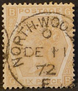 sg123 6d pale buff (plate 11) - very fine used