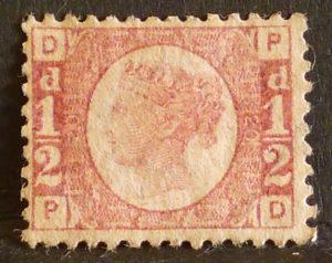 sg49 ½d rose (P-D) plate 20 - M/Mint