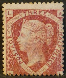 sg52 1½d lake-red (A-L) plate 3 - Mint unused