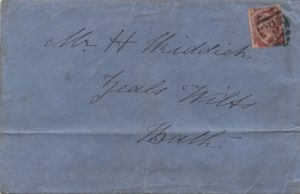 sg51 1½d rose-red (plate 3) on 1877 cover from Wincanton to Bath