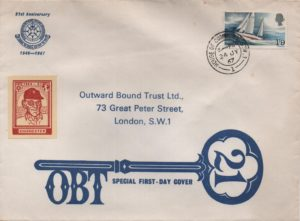 1967 'Sir Francis Chichester' FDC - Outward Bound Trust, House of Commons cds