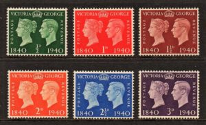sg479-484 Centenary of First Postage Stamps - U/M