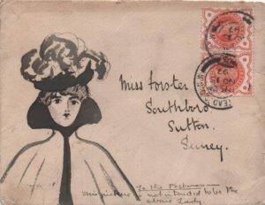 1897 illustrated envelope from Hampstead to Surrey