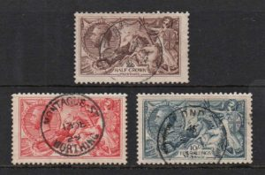 KGV 1918-19 BW Seahorses - fine used