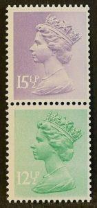 sg X907 Var 1984 15½p pale violet with left phosphor band missing
