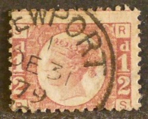 sg49 ½d rose (R-S) plate 15 – Fine used in Newport