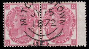 sg102 3d deep rose (QG-QH) pair with superb 1872 MITCHELSTOWN cds