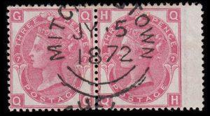 sg102 3d deep rose (QG-QH) pair with superb 1872 MITCHELSTOWN cds