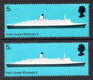 1969 sg778c Queen Elizabeth 2 with red (inscription) omitted – U/M