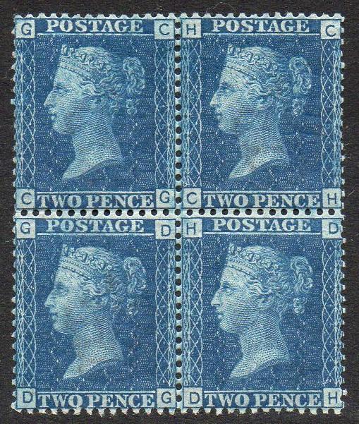 QV sg47 2d blue mint block (GC/HC-GD/HD) Plate 15
