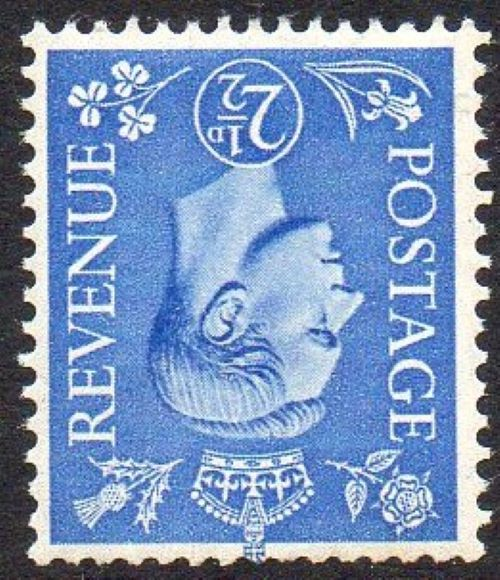 sg489wi 2½d light ultramarine (wmk inverted) – U/M