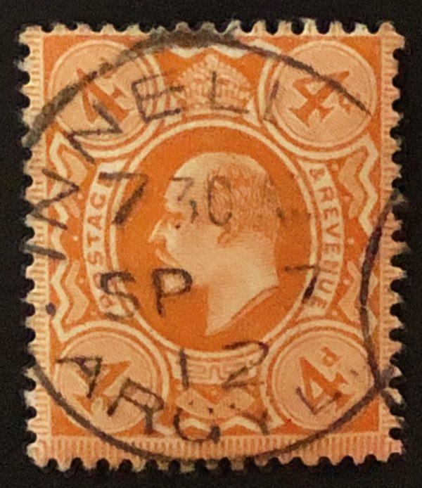 sg241 4d orange-red with fine 1912 Argyll cds