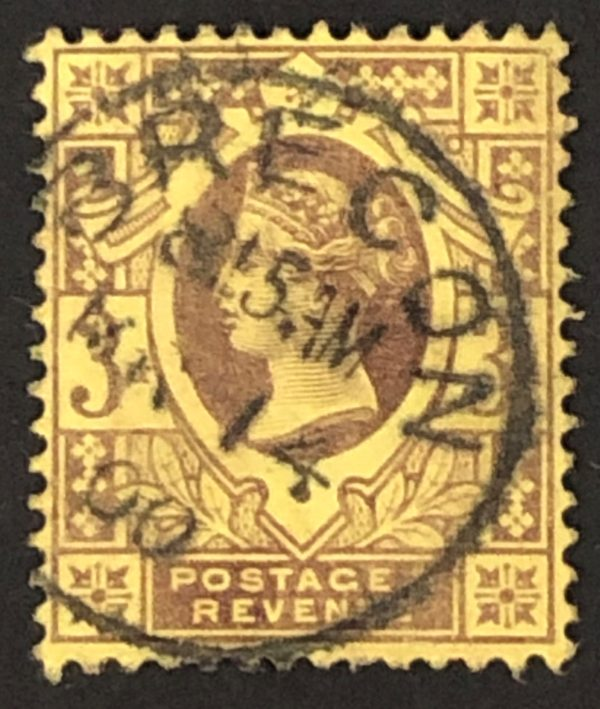 sg202 3d purple/yellow with fine 1900 Brecon cds