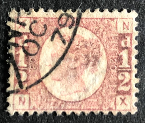 sg49 ½d rose (N-X) plate 20 – fine used