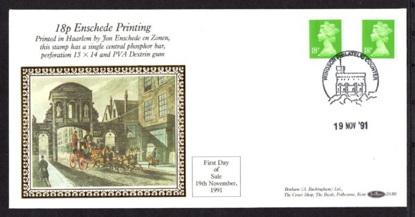 19-11-1991 18p Enschede Printing FDC