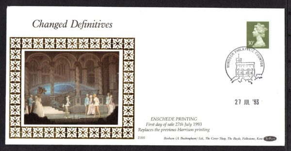 27-7-1993 Changed Definitives FDC