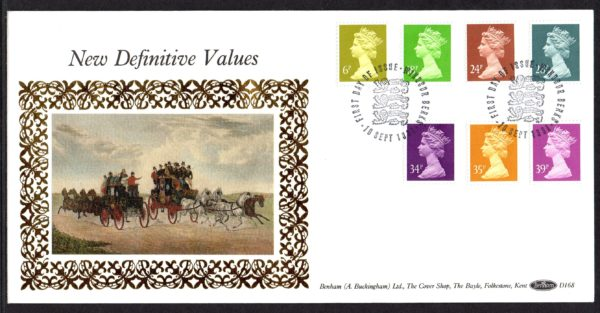 10-9-1991 New Definitive Values FDC