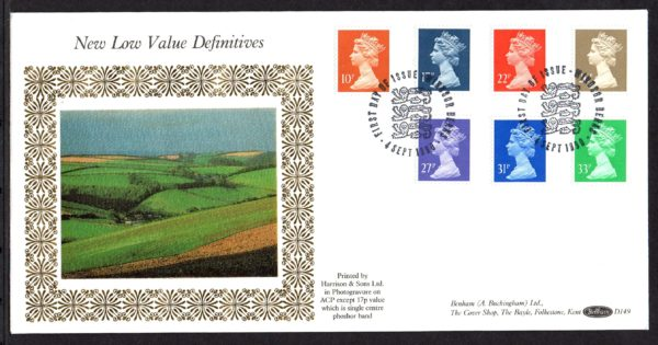 4-9-1990 New Low Value Definitives FDC