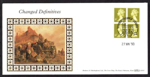 27-4-1993 Changed Definitives FDC