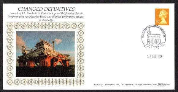 17-8-1993 Changed Definitives FDC