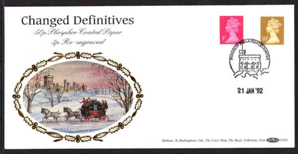 21-1-1992 Changed Definitives FDC