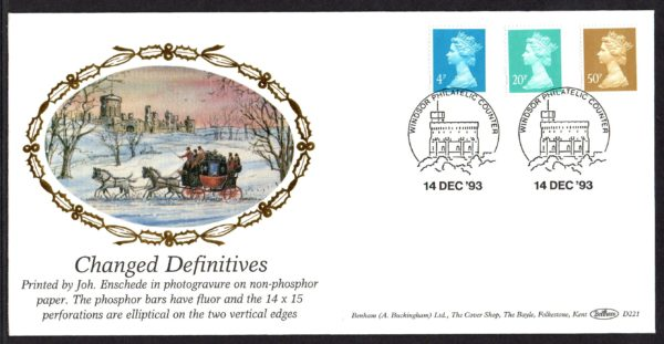14-12-1993 Changed Definitives FDC