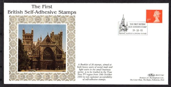 19-10-1993 British Self-Adhesive Stamps FDC
