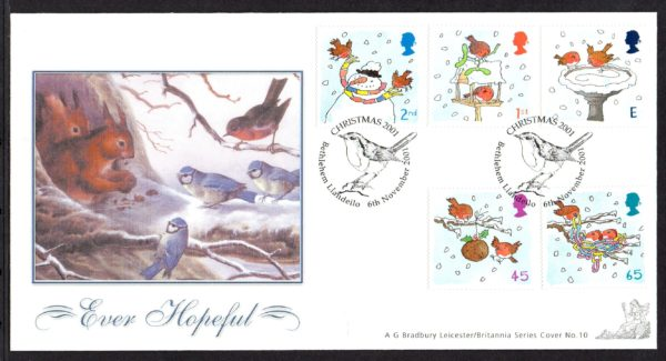 2001 Christmas FDC – limited edition by Bradbury