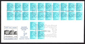 1980 ½p with phosphor coated paper FDC