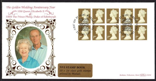 21-4-1997 10x 1st Class NVI Walsall Booklet pane FDC