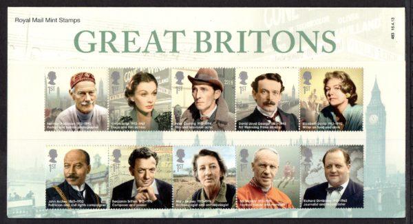 2013 Great Britons Presentation Pack