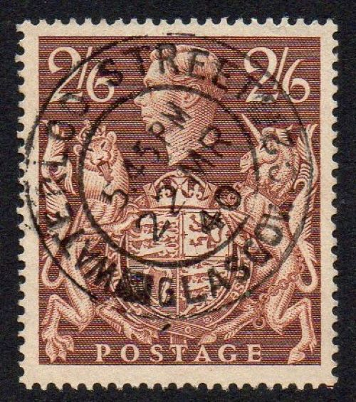 KGVI sg476 2s6d brown with 1940 Waterloo Street, Glasgow cds