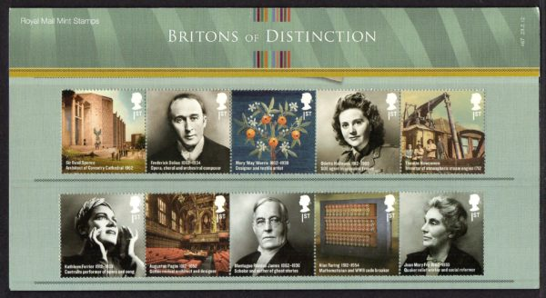 2012 Britons of Distinction Presentation Pack