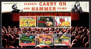 2008 Carry On & Hammer Film Posters Presentation Pack