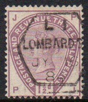 QV sg188 1½d lilac with hexagonal Lombard St h/s