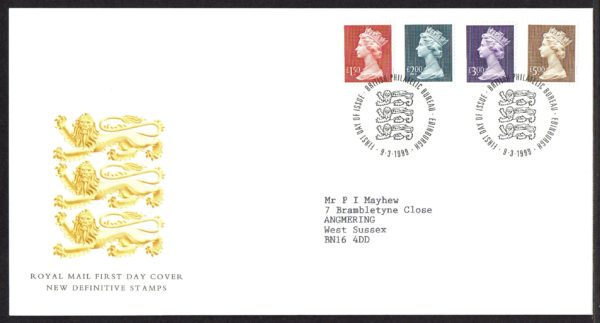 9-3-1999 High Values Definitive FDC