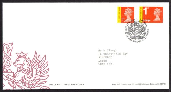 17-11-2009 Recorded Signed For 1st FDC