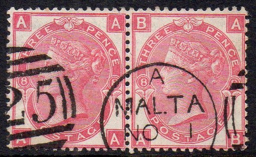 QV sg103 3d rose pair (AA-AB) plate 8 with fine Malta cds